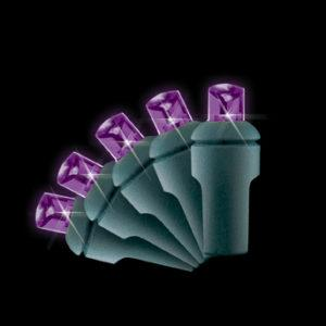 Purple 5mm LED light string