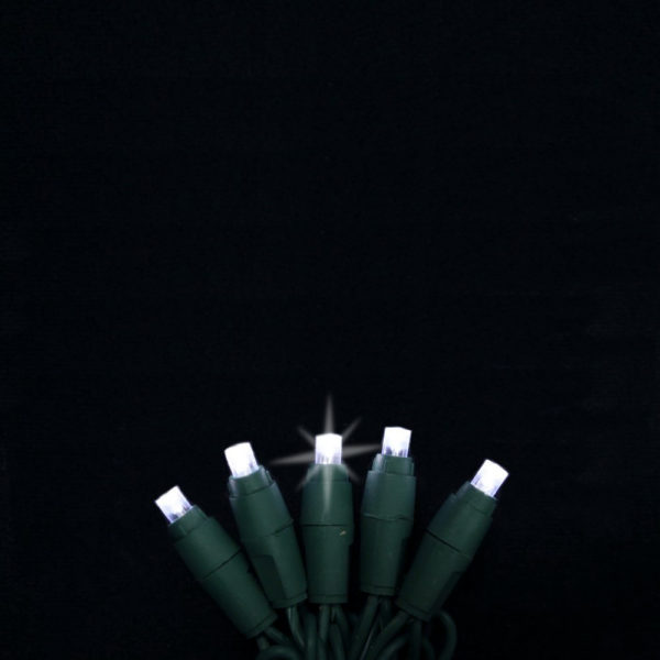Pure white twinkling LED light string