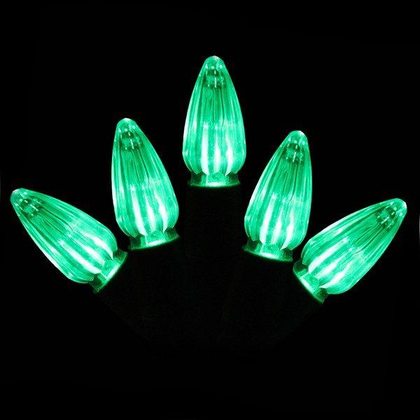 Green C3 LED string light