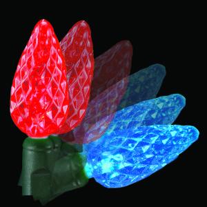 Red to blue C6 colorwave light string
