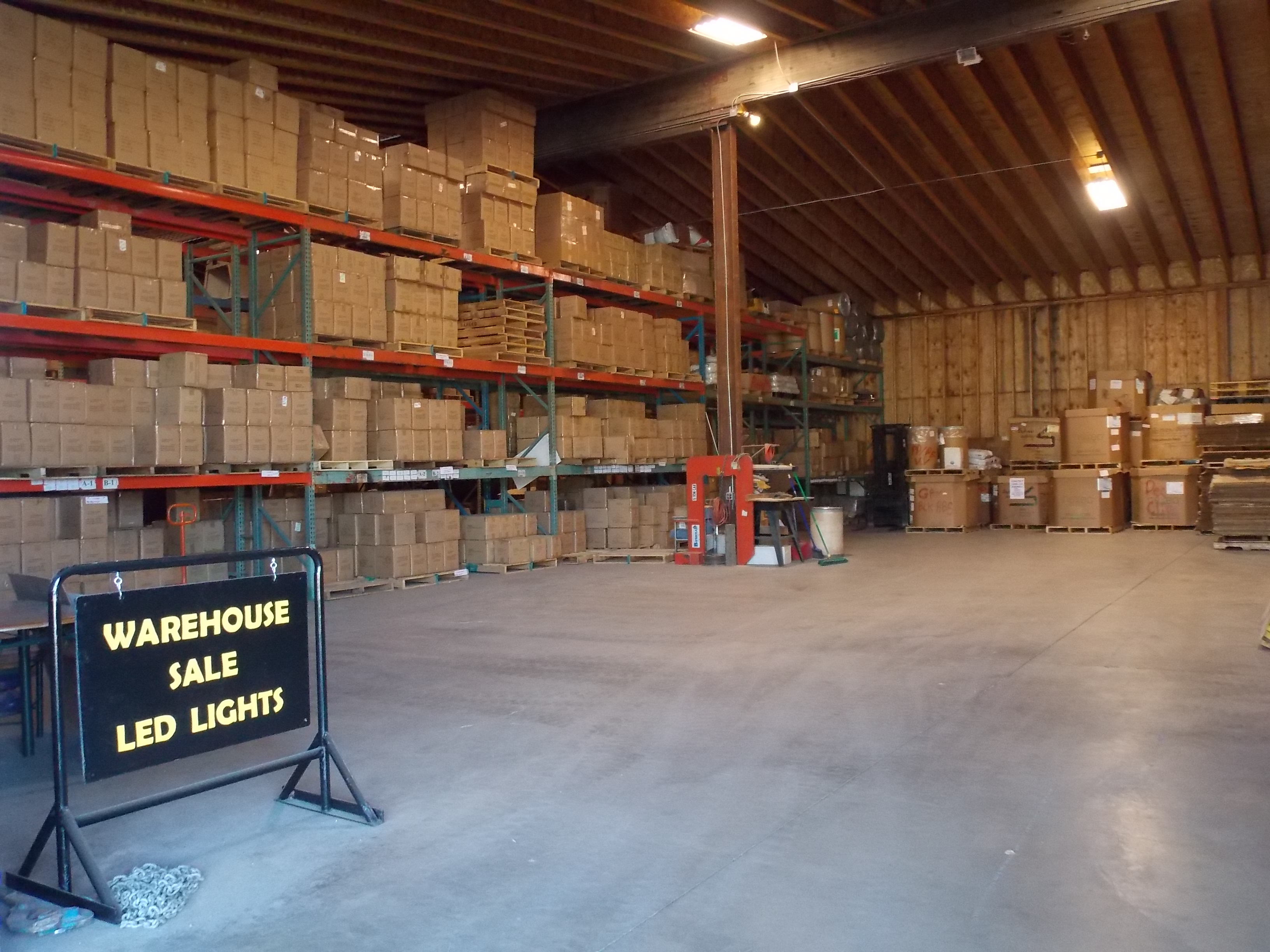 LED Lights Unlimited warehouse in Smelterville, Idaho