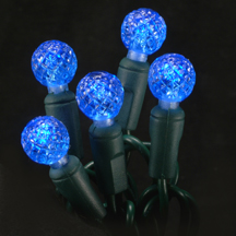 Blue G12 faceted LED light string