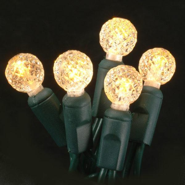 Antique candlelight G12 faceted LED light string