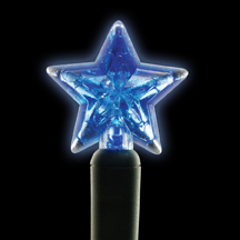 Blue star-shaped LED light string