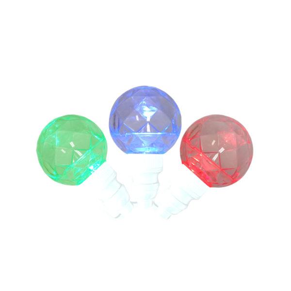 Red, green and blue G40 LED light string, sparkling