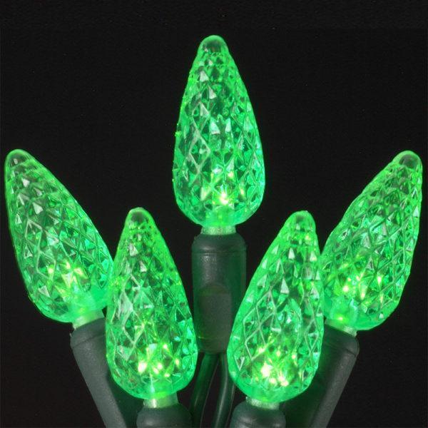Green C6 LED light string