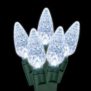 Pure white C6 LED light string