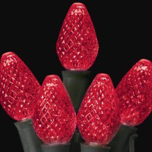 Red C7 LED light string