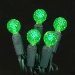 Green G12 faceted LED light string