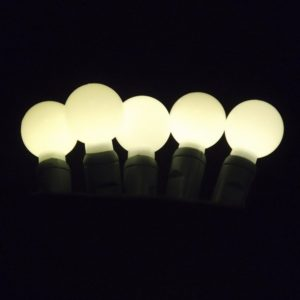 Warm white G20 LED glow light string