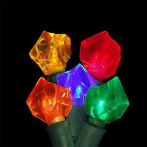 Multi-colored rock-shaped LED light string