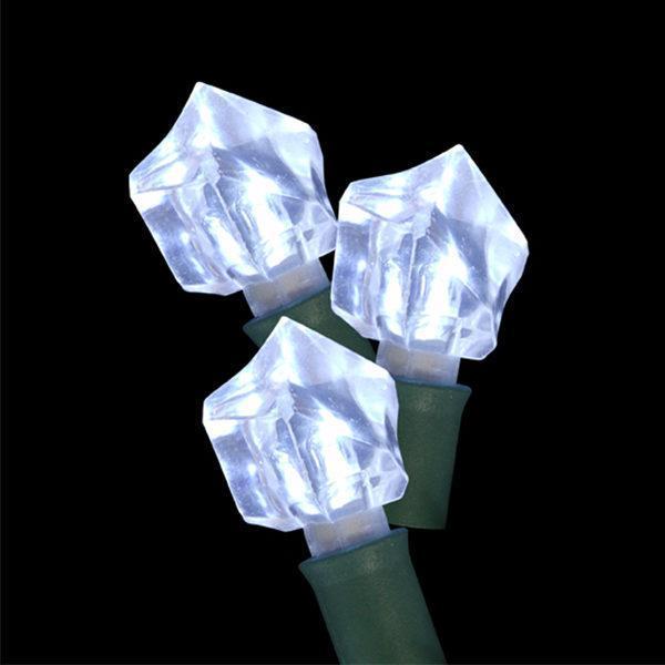 Pure white rock-shaped LED light string