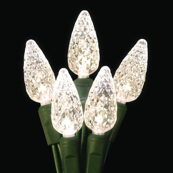 Warm white C6 LED light string