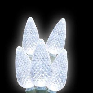 Pure white C9 LED light string